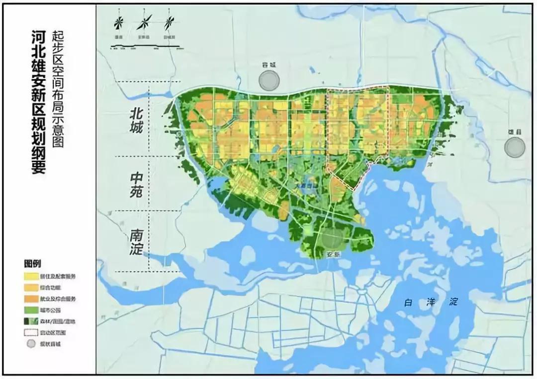 雄安新区规划纲要图