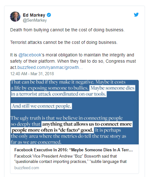 Facebook泄露的备忘录在Twitter上引发热烈讨论