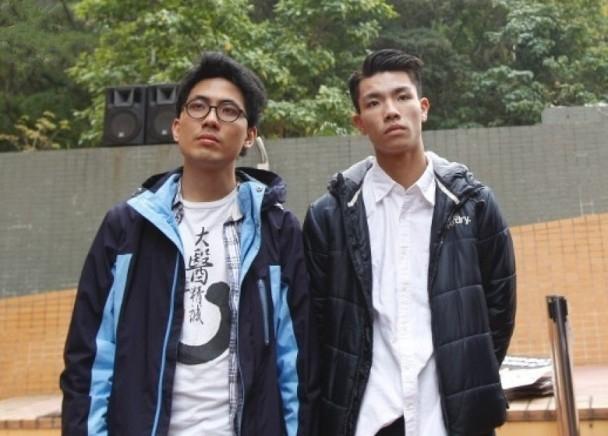 陈乐行(左)及刘子颀(右)被罚停学。