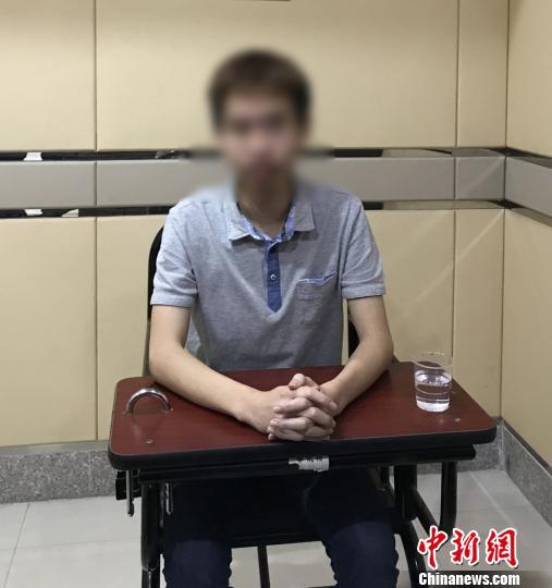 嫌疑人李某(男,26岁,广东阳江人)。广州警方 供图