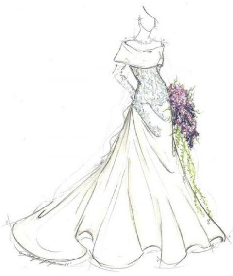 12星座的专属手绘婚纱,狮子尽显高贵女王范儿,射手像黑夜精灵
