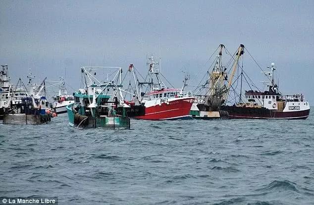 """多艘法国捕捞船与英国渔业船爆发""""扇贝冲突"""""""