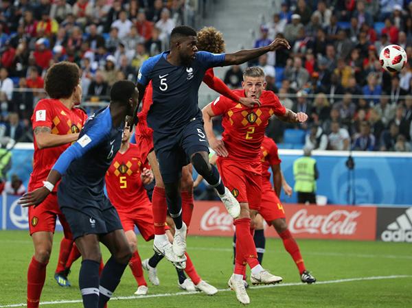 乌姆蒂蒂对阵比利时头球攻入比赛唯一进球
