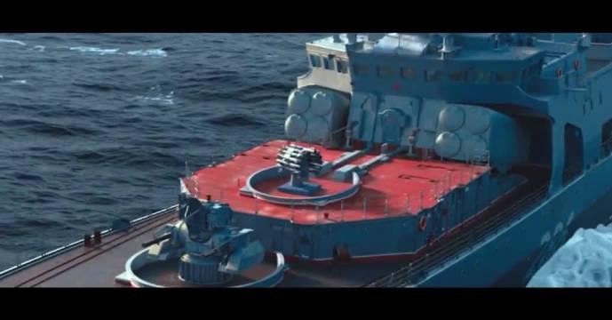 第一次看到,原来驱逐舰是这样用反潜火箭炮打潜艇的!