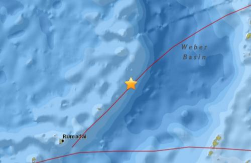 印尼班达海海域发生5.1级地震 震源深度111.5公里