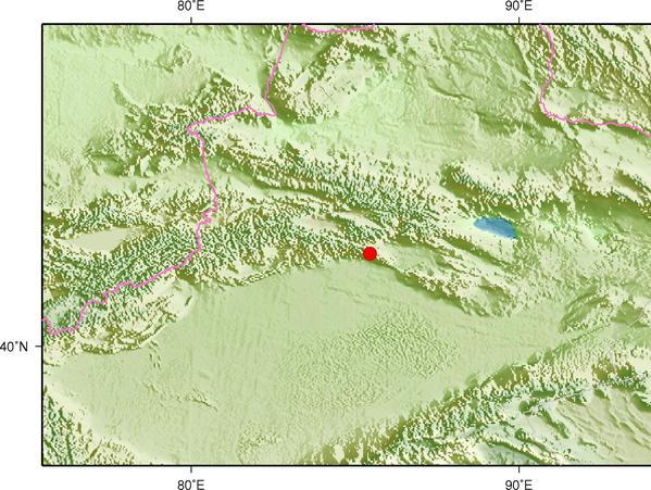 4月1日9时18分新疆巴音郭楞州库尔勒市发生4.2级地震