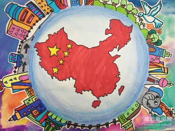 """手绘地图大赛 孩子们用童真赞""""美丽中国,美好家乡"""""""