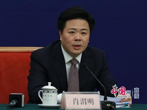 西部开发司巡视员肖渭明(中国网 张若梦摄)