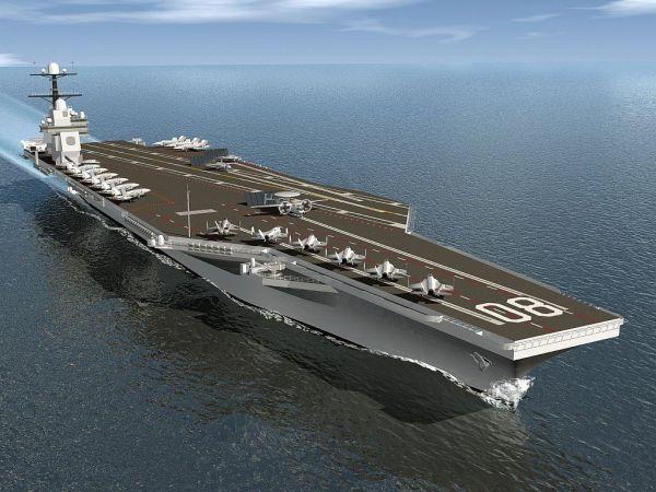 """资料片:美海军福特级3号舰""""企业""""号(CVN-80)想象图。(图片来源于网络)"""
