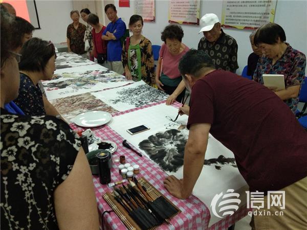 墨香浓 迎华诞 敦化路街道举办庆祝新中国成立70周年书画展