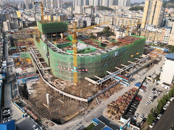 建立中的贵州茅台病院。