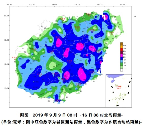 琼岛本周前中期有分散雷雨 后期多云天气为主