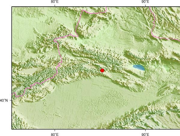 3月18日6时55分新疆巴音郭楞州和静县发生3.0级地震