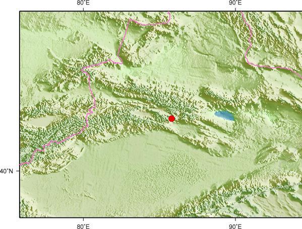 7月22日15时14分新疆巴音郭楞州和静县发生3.0级地震