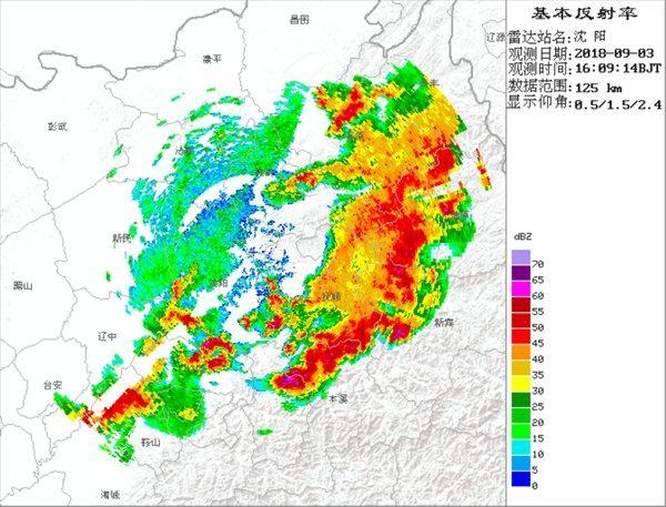 辽宁多地风雨大作 暴雨冰雹雷电等5预警齐发