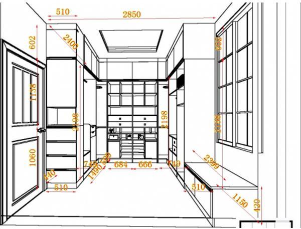 手绘柜子尺寸图