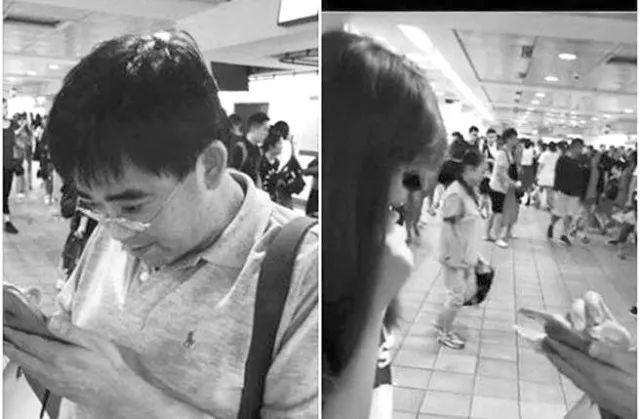 ▲被偷拍女子向警方报案(右图),指控邱俊荣(左)。