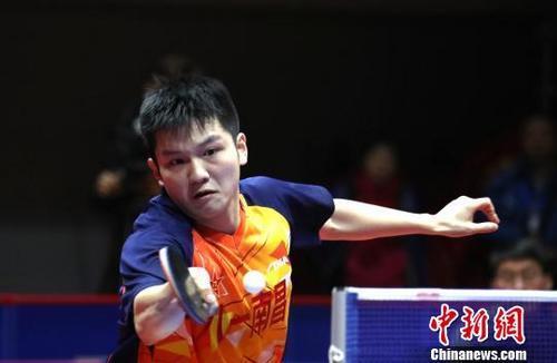 樊振东在比赛中。(资料图)刘占昆 摄
