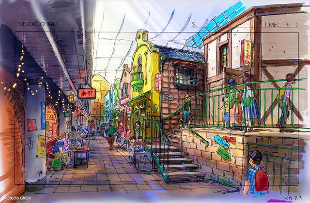 吉卜力主题公园预定2022年秋开业 千寻猪食街将完美还原