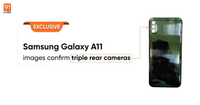 三星Galaxy A11手机背壳曝光 采用后置三摄设计