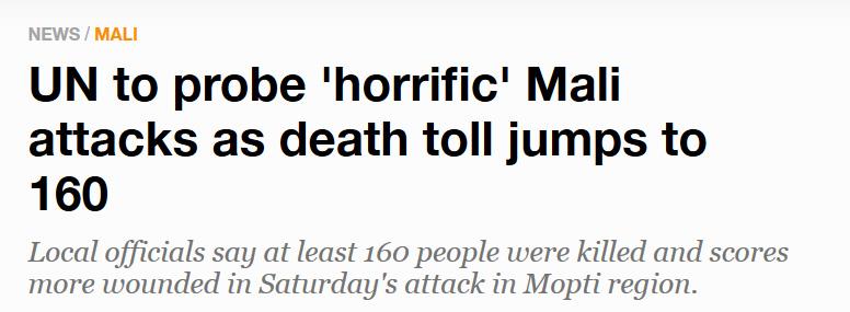外媒:马里总理马伊加辞职,和上月发生的大屠杀有关