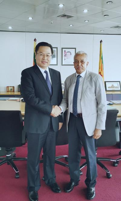 驻斯里兰卡大使程学源会见斯发展战略和国际贸易部长萨马拉维克拉马