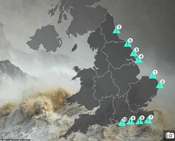 英国海岸线正消失 沿海城镇7千所房屋将沉入大海|英格兰