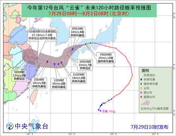 """台风""""云雀""""明天移入东海 东海阵风可达9级"""