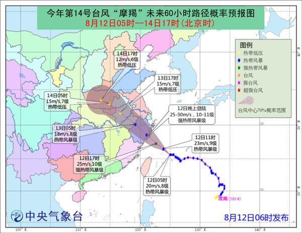 台风预警:摩羯今晚登陆浙江 热带低压将在广东近海徘徊