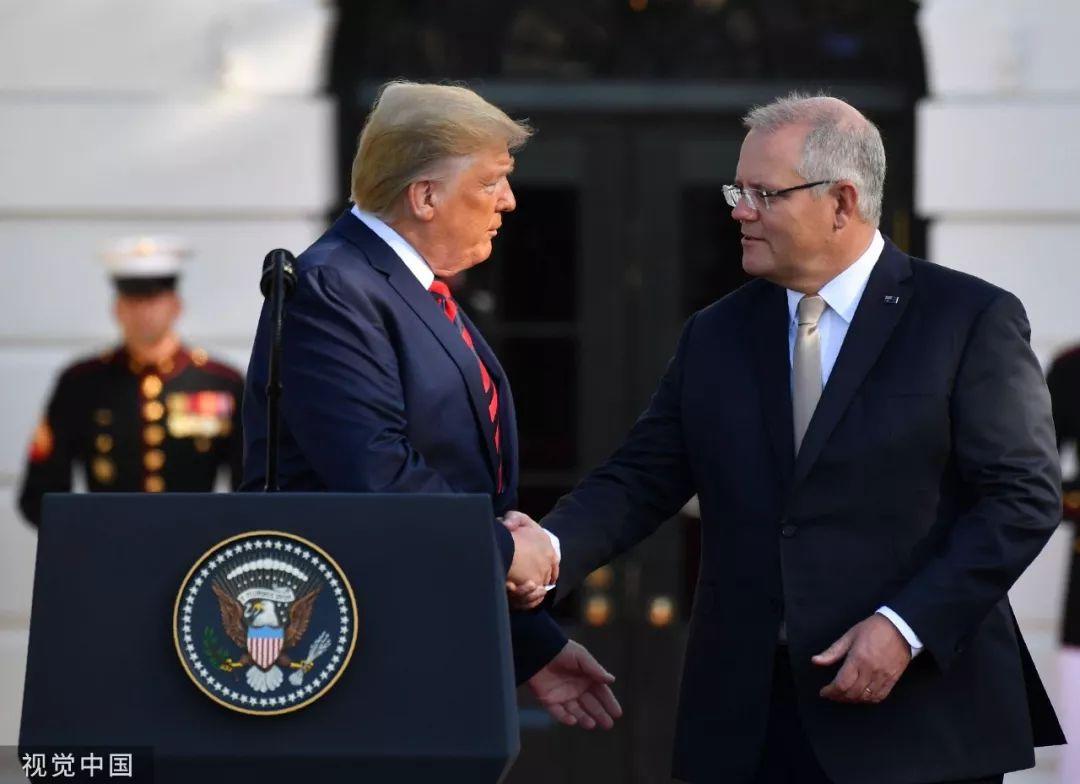 ▲當地時間2019年9月20日,美國華盛頓,美國總統川普在白宮會見到訪的澳大利亞總理莫里森,並舉行聯合新聞發佈會。