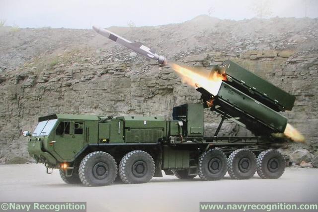 陆基NSM导弹发射