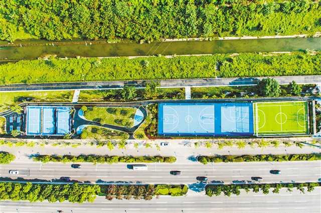 主城新建成投用5个社区体育文化公园