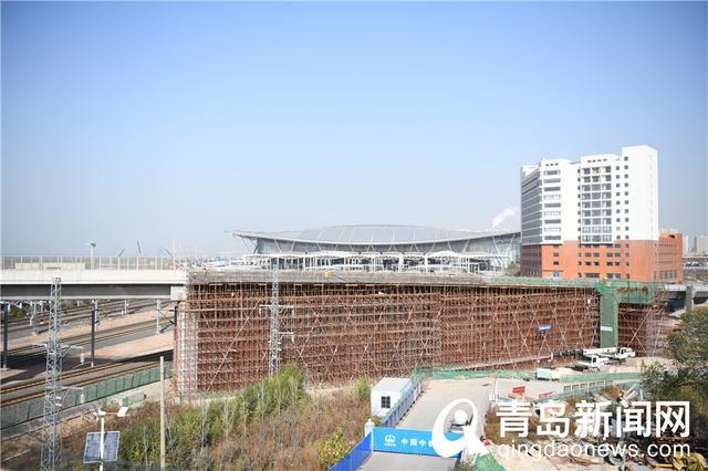 青岛太原路立交桥新进展,因拆迁东延段东侧尚未开工