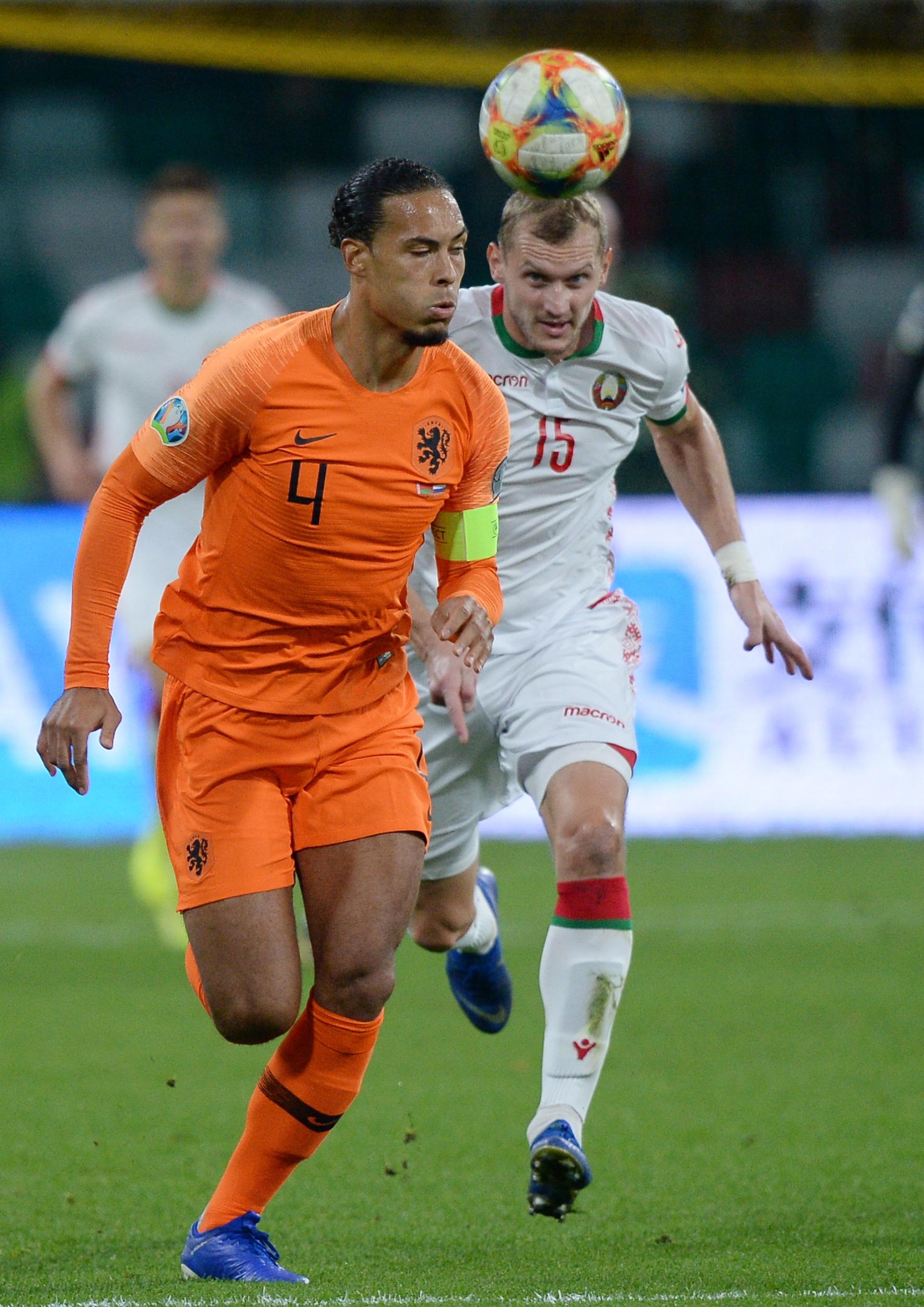 荷兰足协:范迪克将缺席欧预赛对战爱沙尼亚