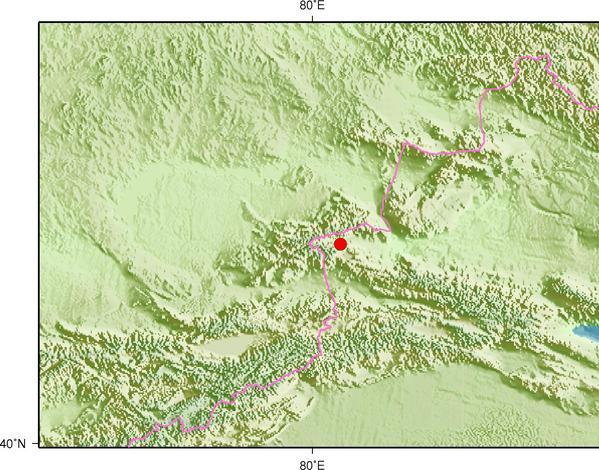 9月9日17时38分新疆博尔塔拉州温泉县发生3.1级地震