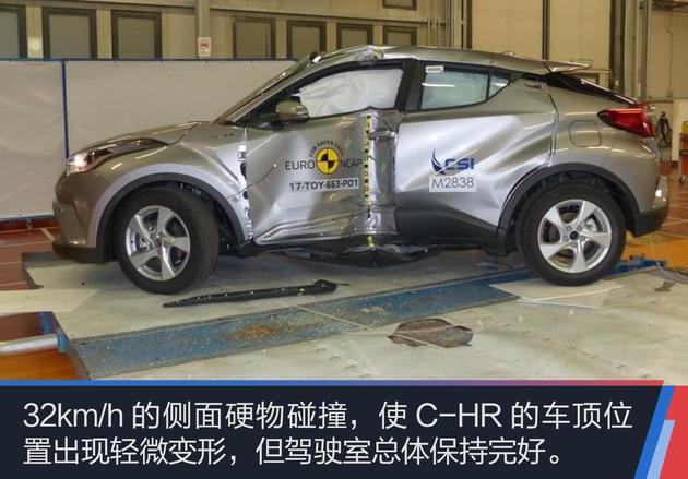 比颜值更重要的是安全 丰田C-HR碰撞测试解读