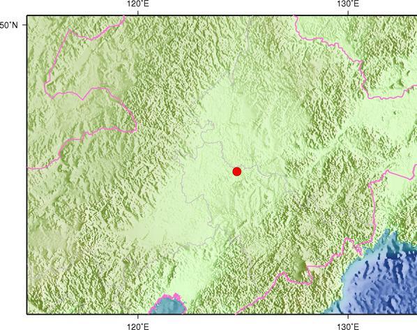 5月31日17时19分吉林松原市前郭尔罗斯县发生3.1级地震