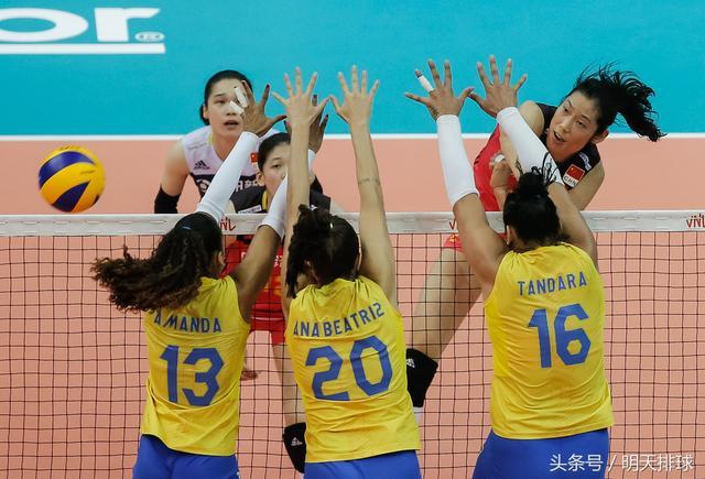 """世锦赛差点掀翻中国女排,世联赛最终打败巴西!""""小古巴""""又来了"""