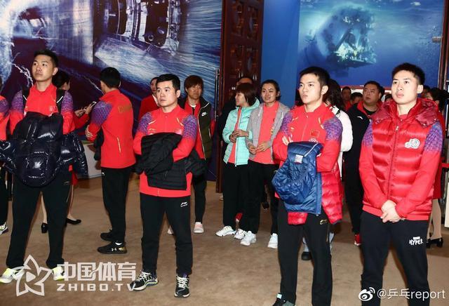 体育总局组织参观建国70周年成就展 国乒教练队员参加活动