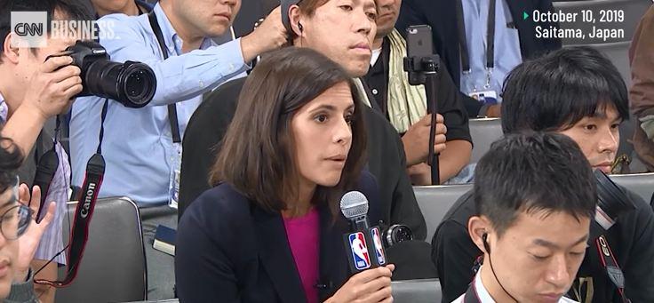 CNN提问火箭队哈登被拒 NBA道了两次歉