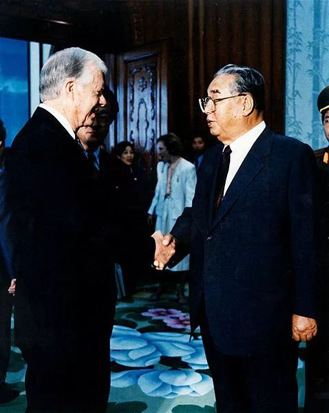 美国前总统卡特赴平壤与当时朝鲜最高领导人金日成会面