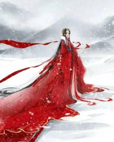 十二星座专属手绘古风红色长裙,金牛座是凤凰裙,双鱼