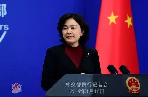 ▲2019年1月16日外交部发言人华春莹主持例行记者会