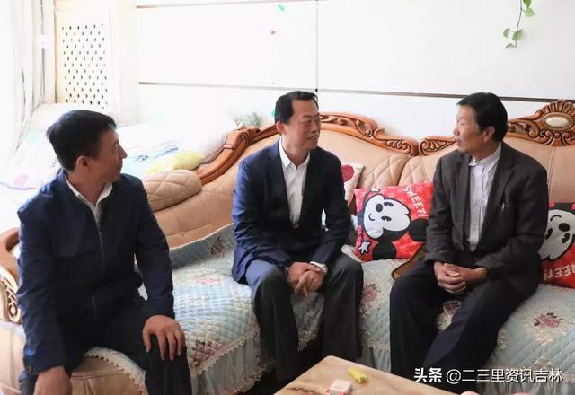 吉林市政府副市长、磐石市委书记张静辉走访慰问建国前参加革命工作的老同志和全国劳动模范