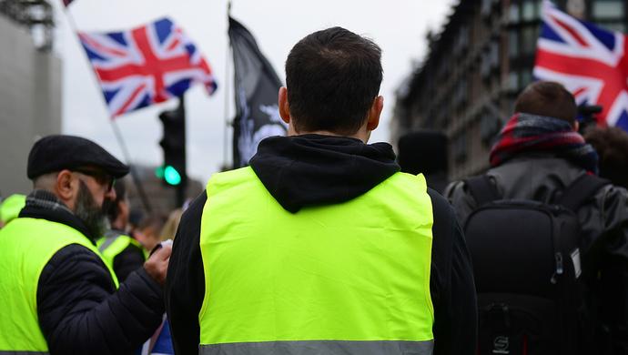 """""""黄背心""""运动蔓延到伦敦,英国会成为下一个""""战场""""吗?"""