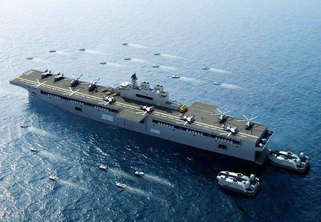 075型两栖攻击舰下水的意义比航母还大!它可真正威慑到周围地区