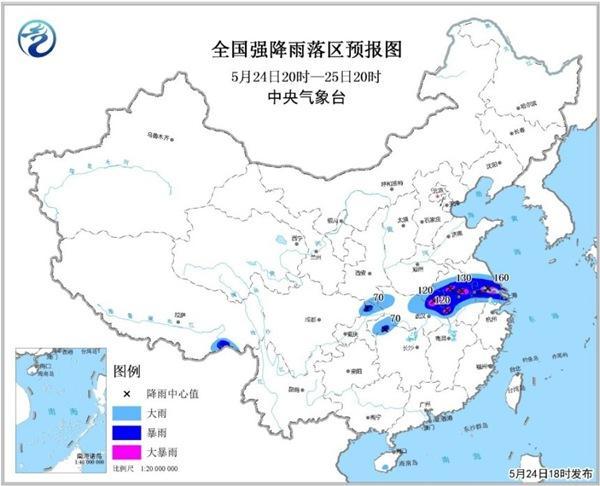 暴雨预警升级 安徽河南等6省市暴雨局地大暴雨