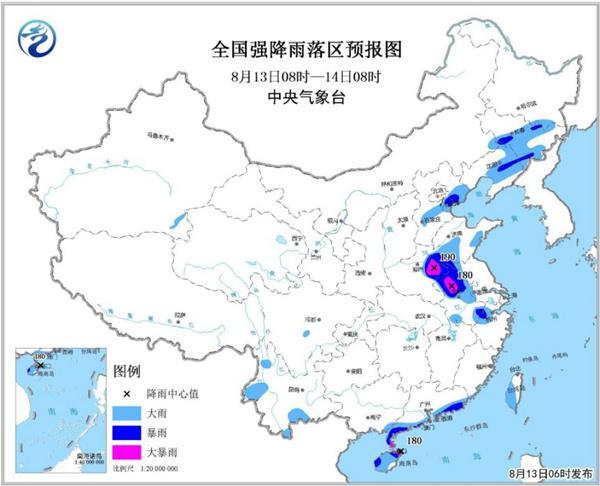 暴雨黄色预警:河南安徽广东海南岛等局地大暴雨