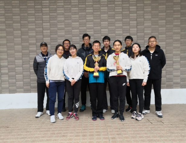 我校网球队在全省大学生体育联赛网球比赛中夺