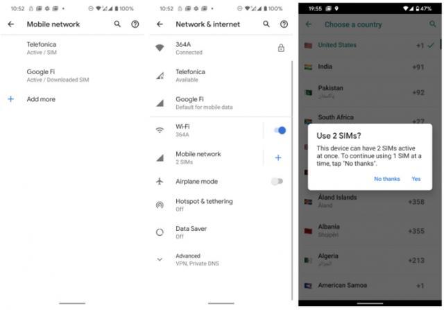 谷歌Pixel 4系列确认原生支持双卡双待